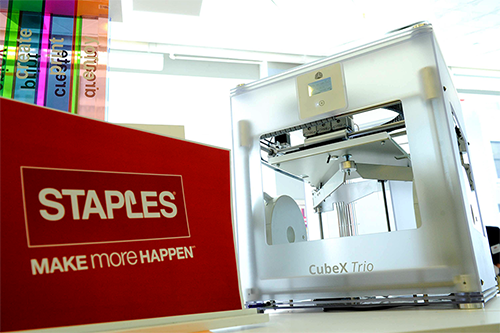 CubeX 3d printer at Staples